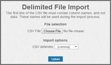 Importing resources from a file